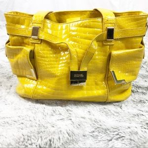 GUC MichaelKors Beverly Yellow Patent Leather Tote
